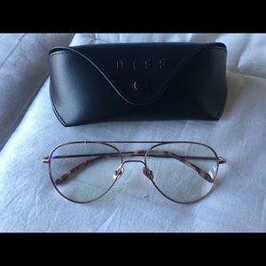 DIFF Eyewear Karter Champagne Blue Light Glasses